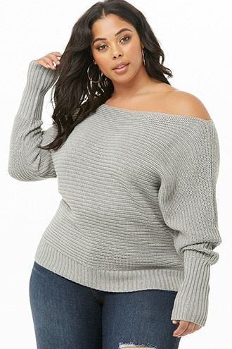 499ab3a7547 Plus Size Ribbed Sweater