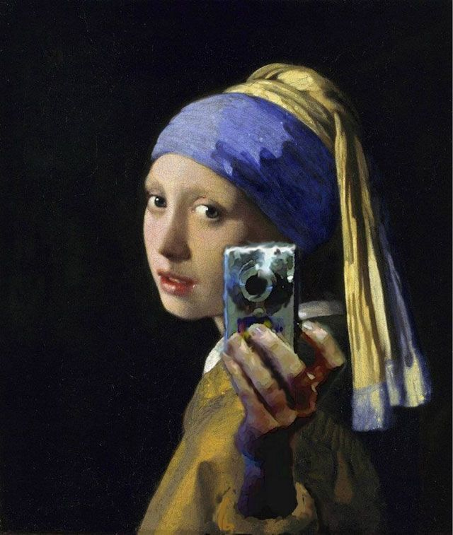 The Girl With the Facebook Headshot.  And a pearl earring, too.