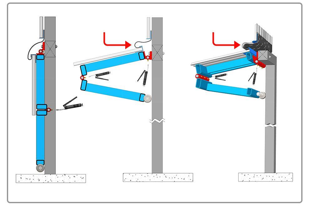 Greasable Bifold Hinge Diagram Garage Door Design Garage Doors Sliding Barn Door Hardware