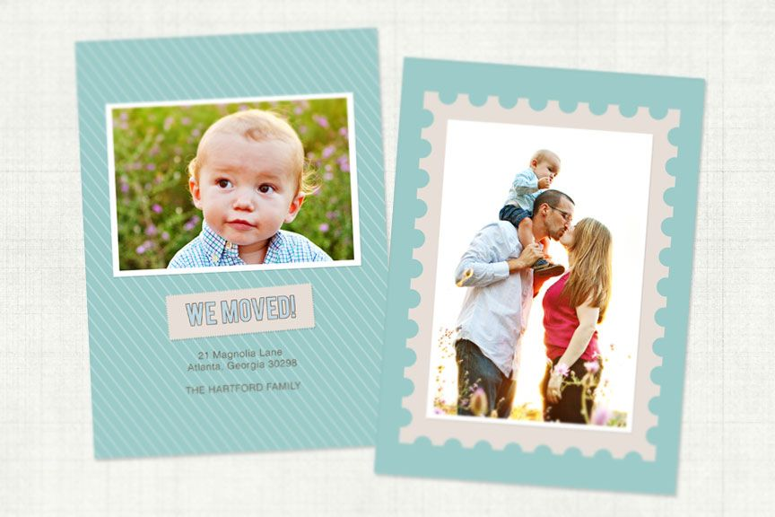 we've moved announcement | Photo card template, Card ...