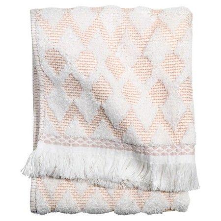 Threshold Finial Bath Towel Coral White Target Towel
