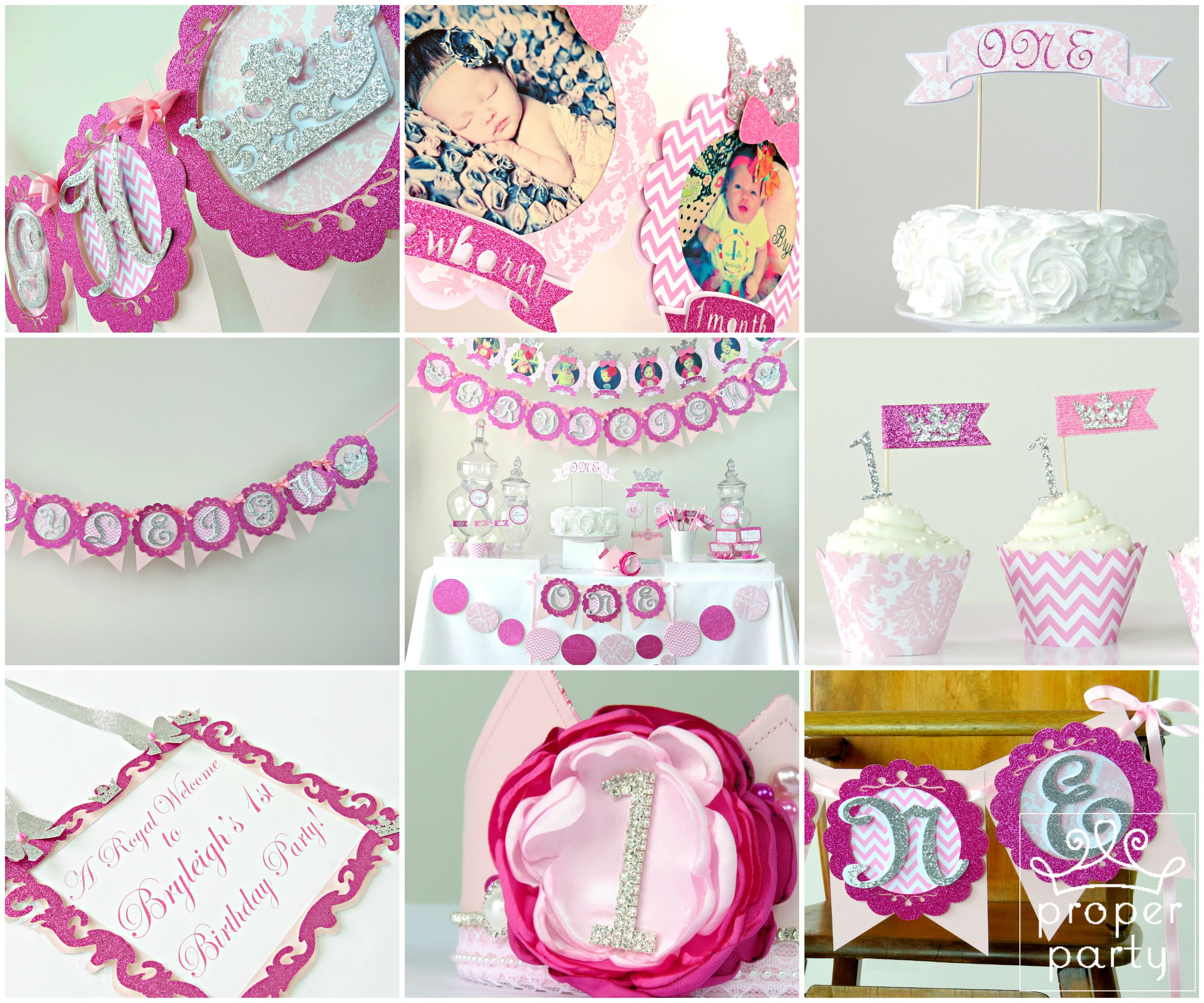 Girls First Birthday Party Decorations by Proper Party on Etsy ...