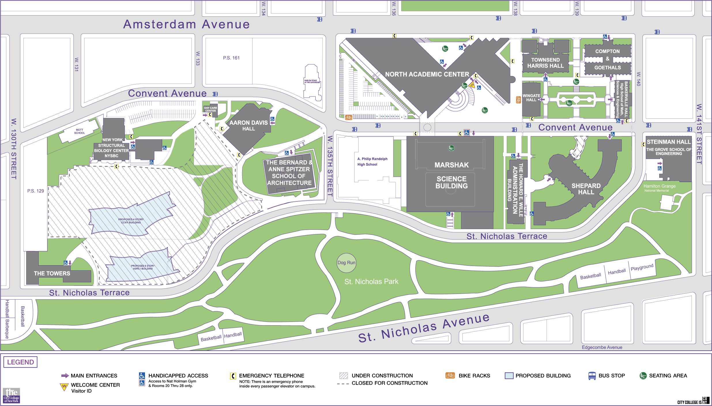 CCNY Campus Map | New York Metropolitan Area | Pinterest