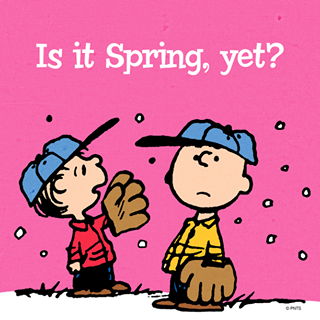 Image result for peanuts meme is it spring yet""