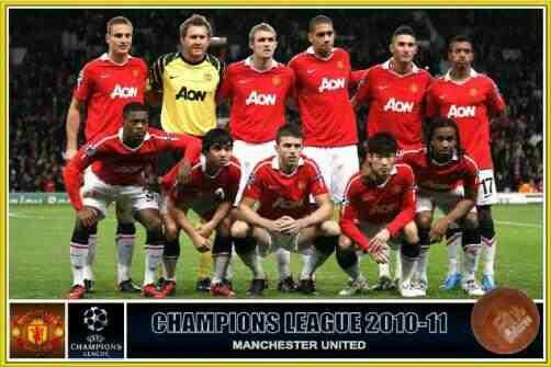 2010 11 manchester united football team pictures champions league final team pictures champions league final