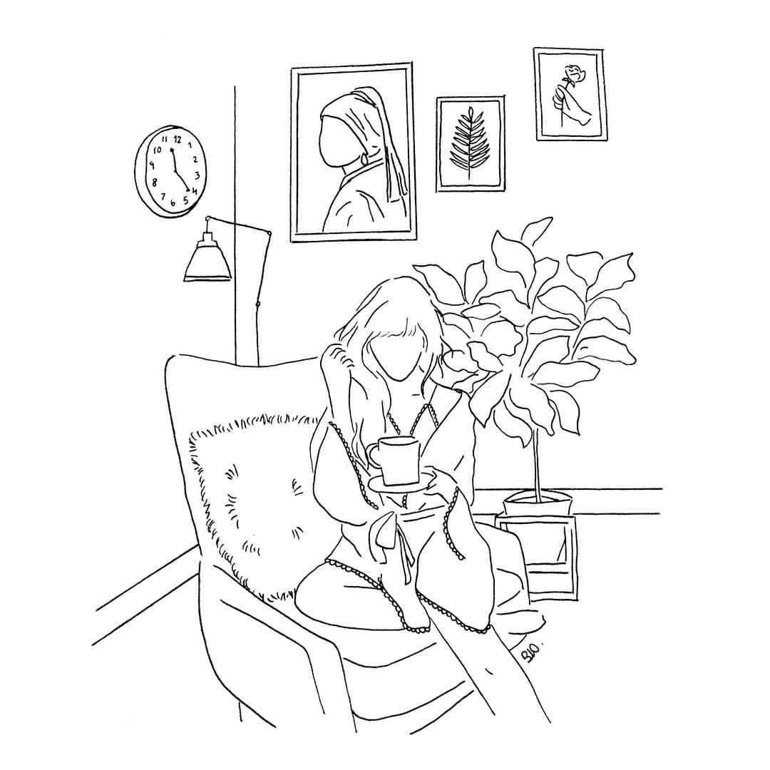 poeticamente flor Notes art, Line art drawings
