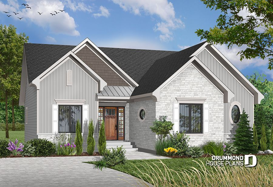 Pin by Drummond House Plans on Small house plans & Affordable Home Two Sided Fireplace Open House With Plans Html on kitchen hearth rooms with fireplaces, house plans with double sided fireplaces, house plans with two way fireplace,