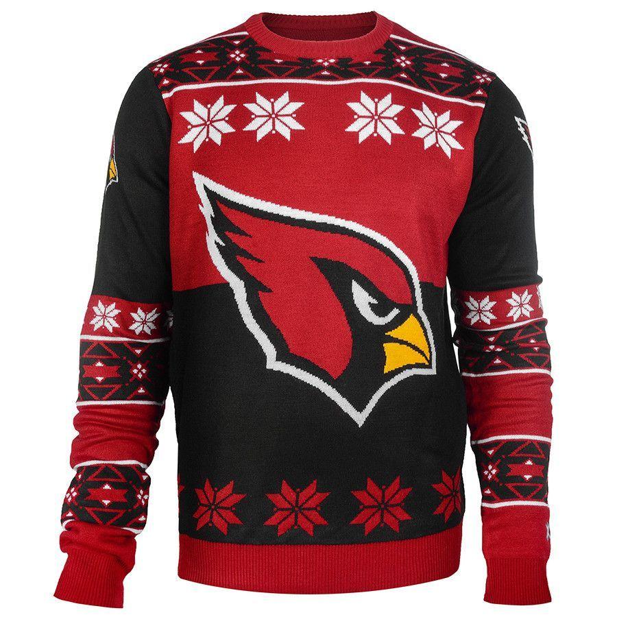 2417057d9a7d Arizona Cardinals Big Logo Ugly Crew Neck Sweater