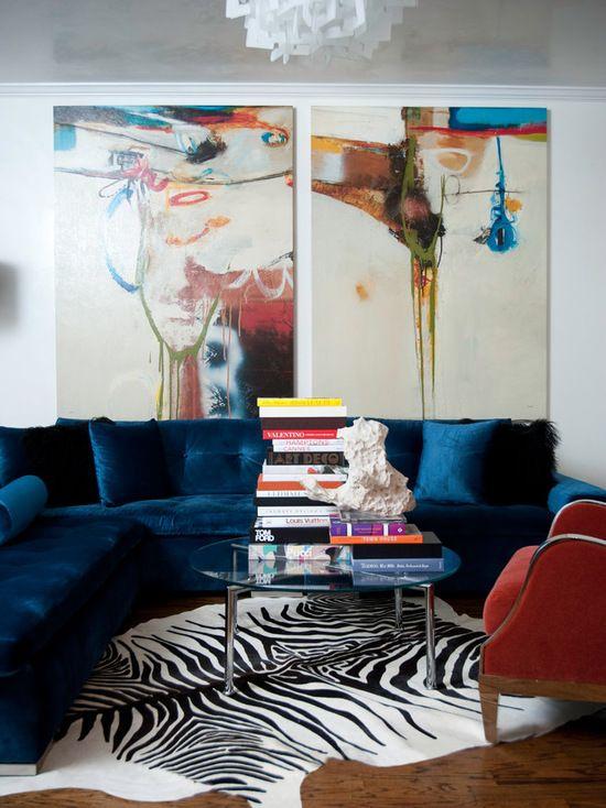 16 große Wohnzimmer Design und Dekor Ideen mit Samt Möbel   neuedekorationsideen   Modern ...