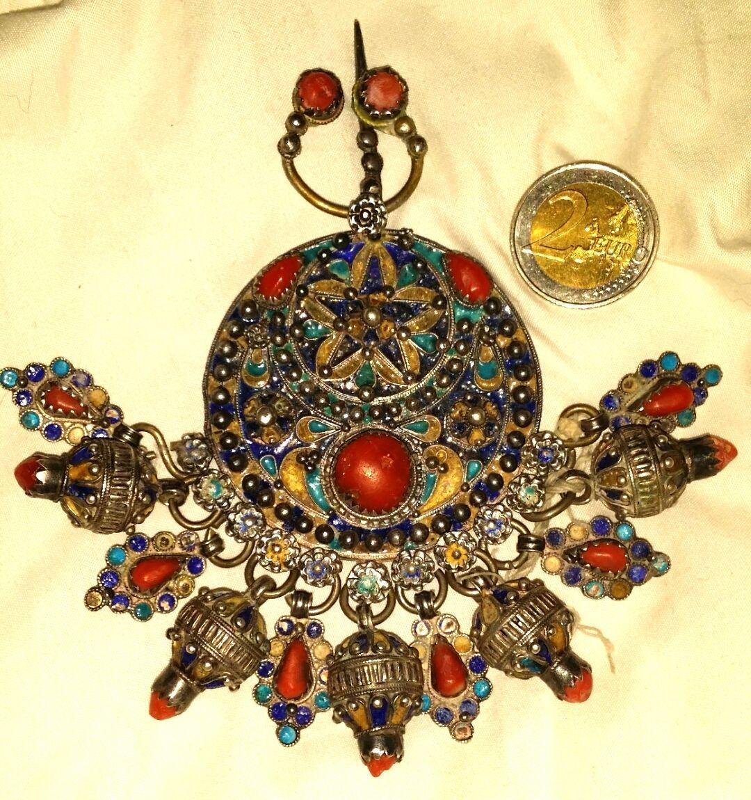 Bijoux Algerie Argent : Tabzimt kabyle berbere corail argent bijoux