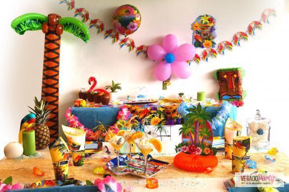 d coration soir e tropicale les conseils des pros deco de fete tropical et th me hawa en. Black Bedroom Furniture Sets. Home Design Ideas