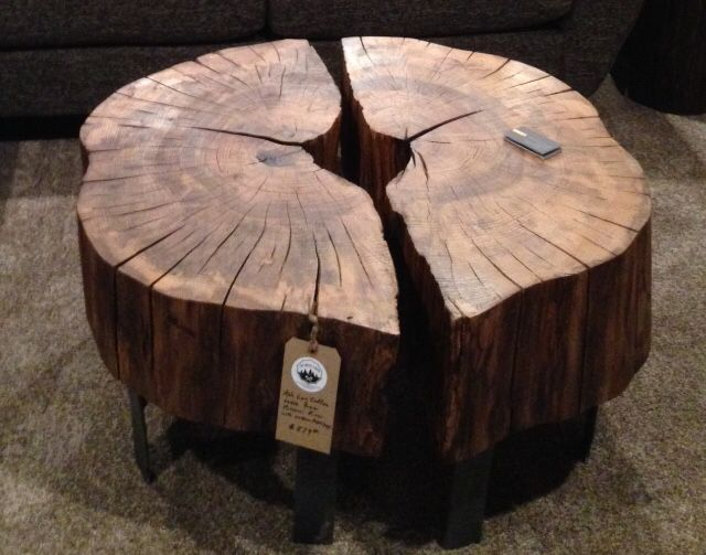 Half And Elm Coffee Table With Metal Legs