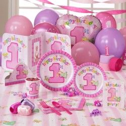 Fairy Princess 1st Birthday Classic Party Pack for 8 Fairy 1st