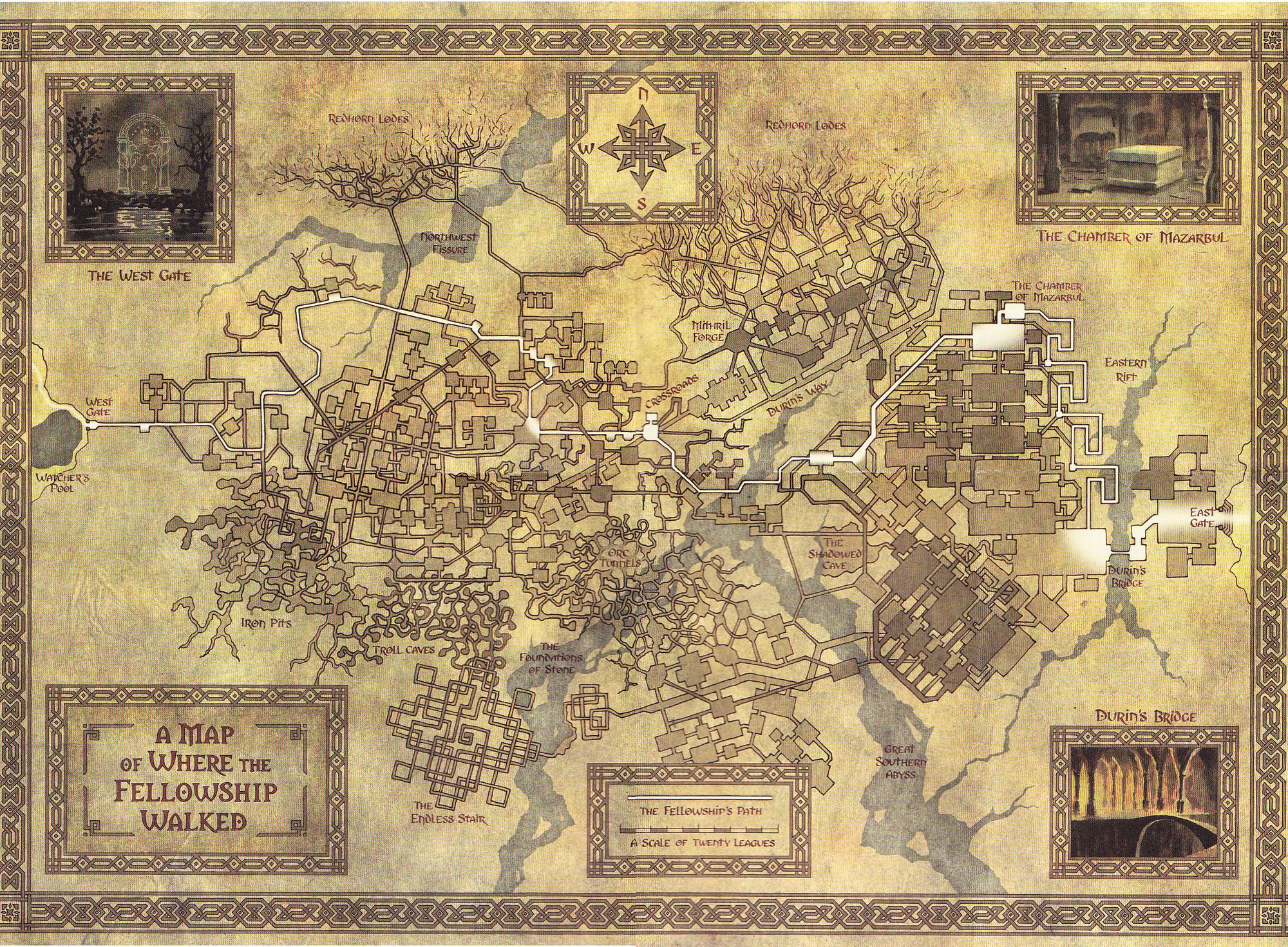 Moria | fantasy worlds | Middle earth map, Mines of moria, Middle