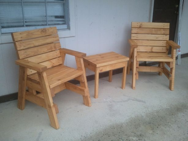 Plans for 2x4 furniture outdoor spaces pinterest for Homemade 2x4 furniture