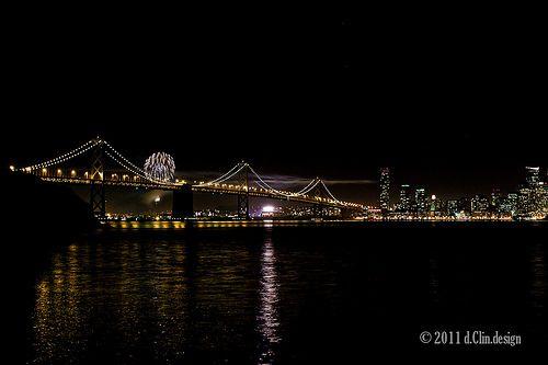 SF Bay Bridge Fireworks  Shot with Leica M9 + Leica 50mm Noctilux-M 0.95