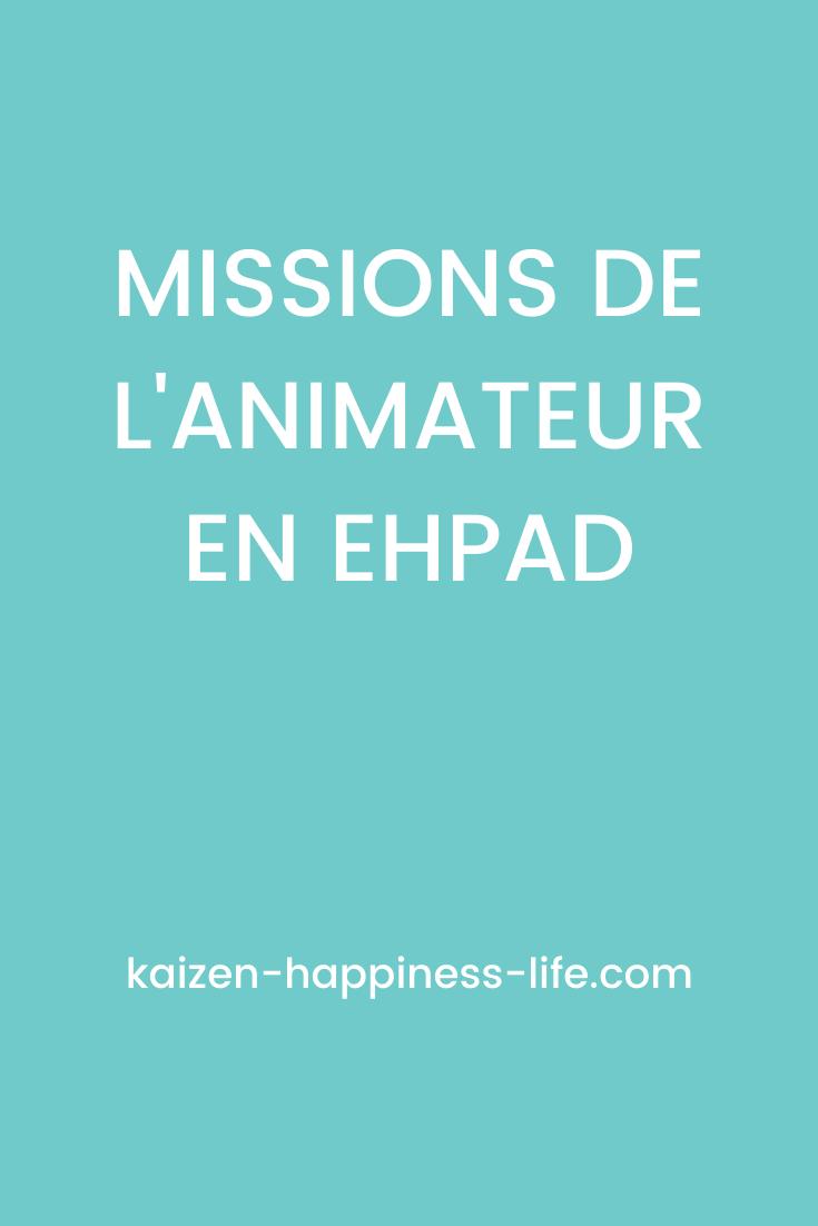 Les Missions De L Animateur En Ehpad Ehpad Animation Ehpad Animation Pour Personnes Agees
