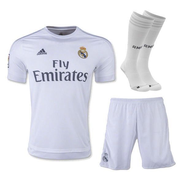 new style 54308 94d93 Real Madrid 15-16 HOME FULL KIT Personalized Name and Number ...
