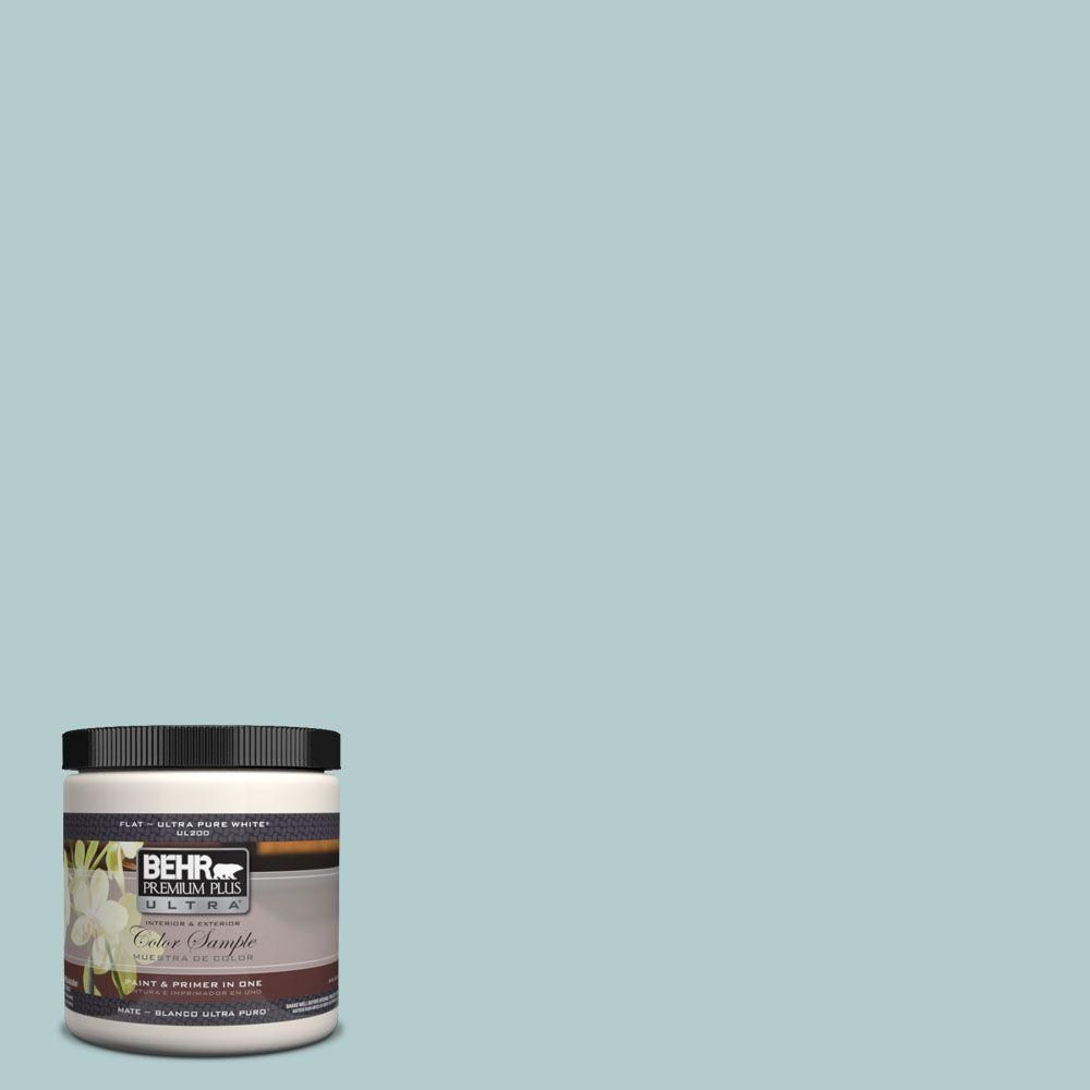BEHR Premium Plus Ultra 8 oz. #UL220-8 Clear Pond Interior/Exterior Paint Sample-UL220-8 - The Home Depot