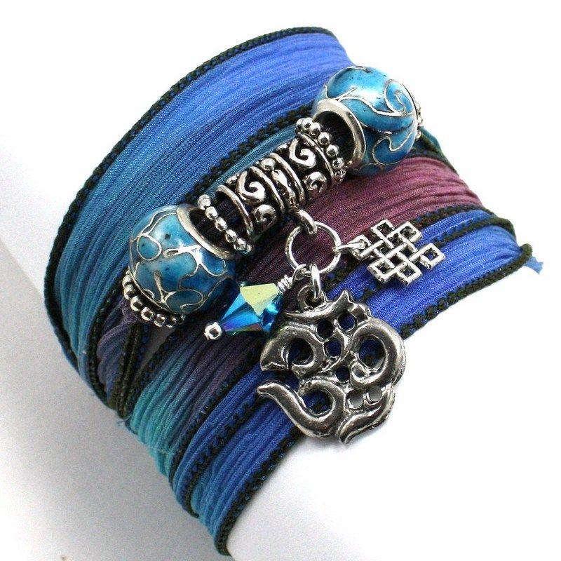 Silk wrap bracelet