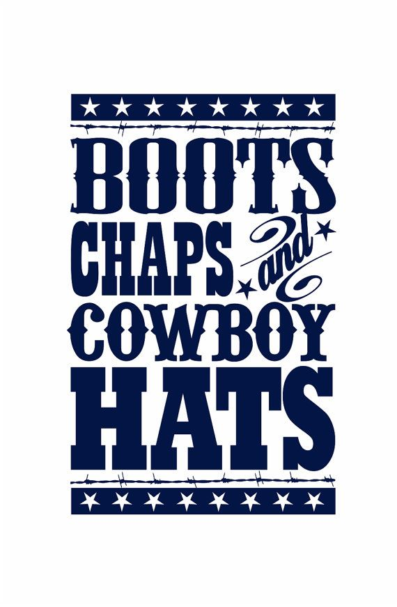 "Cowboy Wall Decal - Boots Chaps Cowboy Hats Western Vinyl Wall Decal for Baby Nursery or Boy's Room 35""H x 22""W Wall Art FS109"