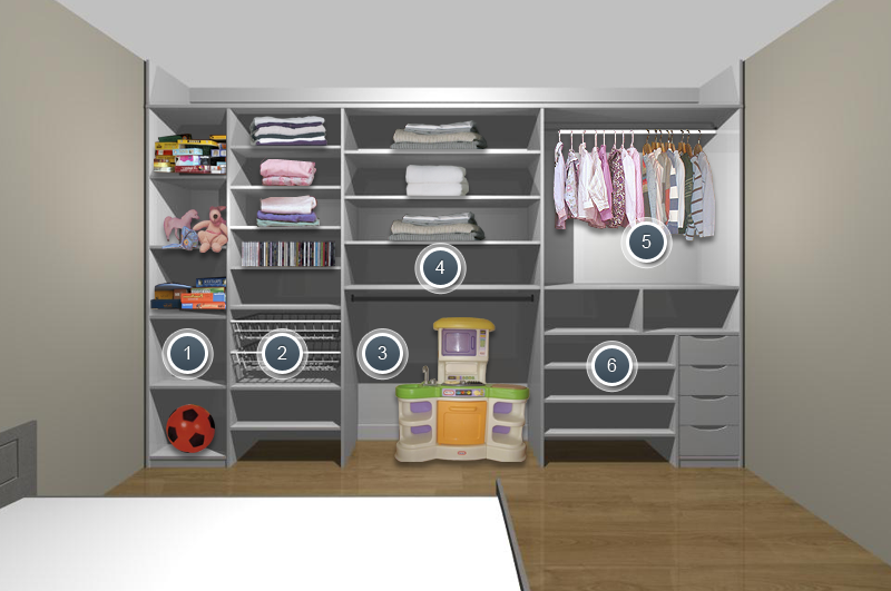 Modification Of Bedroom For Disabled Child | Kidu0027s Bedroom Wardrobes