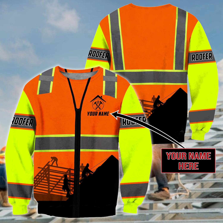 Roofer Man - Custom Name Unisex Shirts - Sweater / XXL