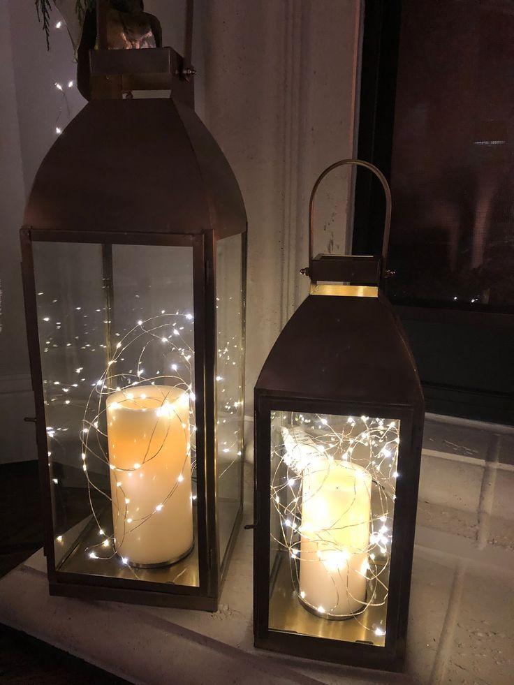 Classic Style Home Christmas Lanterns Lanterns Decor Lantern With Fairy Lights