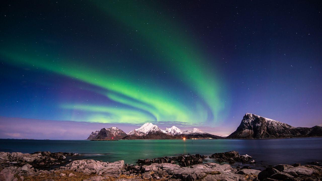 خلفيات كمبيوتر بحجم الشاشة Tecnologis Aurora Borealis Aurora Northern Lights