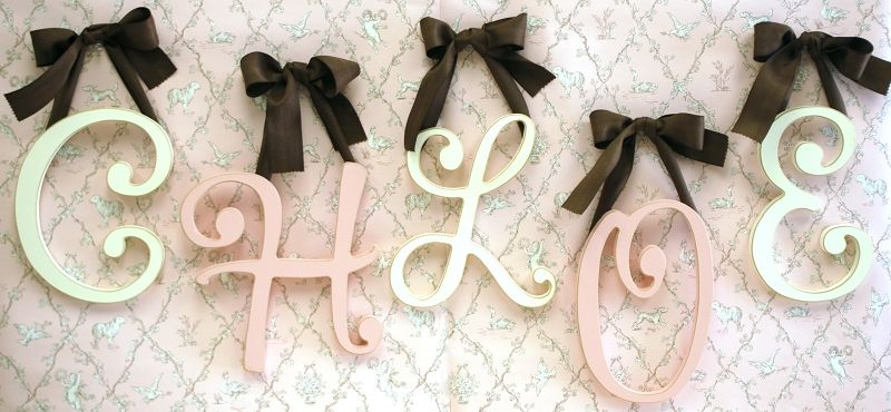 Hanging Wall Letters Captivating Wooden Cursive Wall Initial Letters Monogram For Girl's Room Or Decorating Design