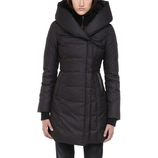Black winter coat polyvore