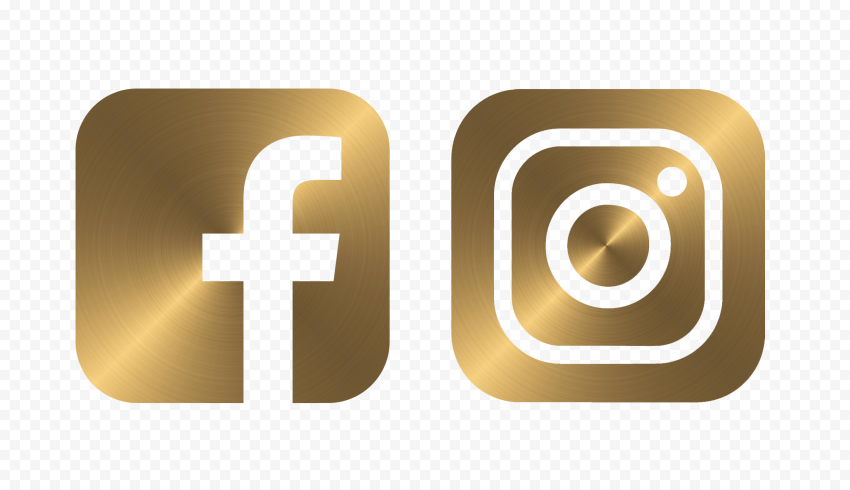 Hd Facebook Instagram Golden Metal Square Logos Icons Png In 2021 Square Logo Logo Icons Logo Facebook