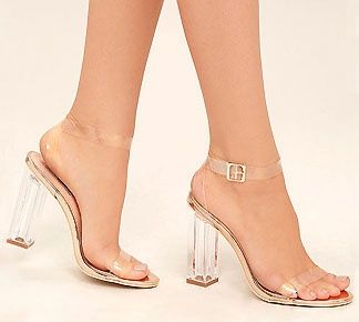 581dd9f66f6 Enchanted Nights Clear Block Heel from Cousin Couture. | Let's Talk ...