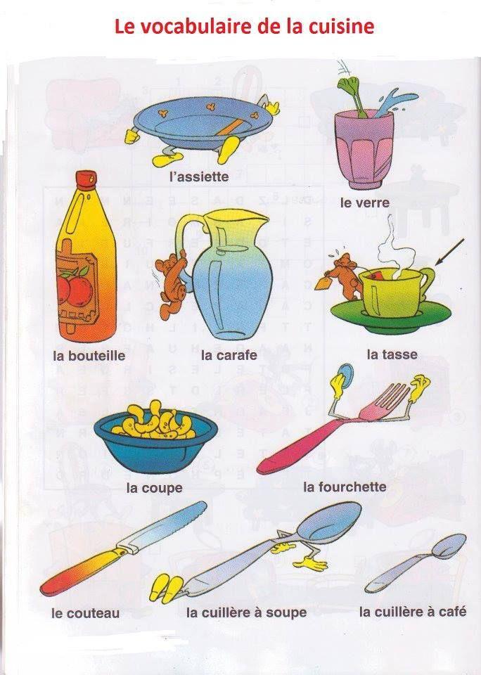 le vocabulaire de la cuisine fle nourriture ustensiles pinterest learning french and. Black Bedroom Furniture Sets. Home Design Ideas
