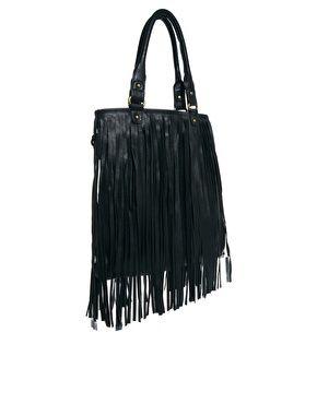 Oasis Tassel Fringe Shoulder Bag