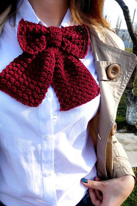 Crochet Bow Tie Pattern - Bow Tie - Crochet Pattern for Women - Neck ...