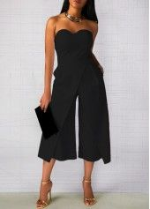 ab2371317e11 Solid Black Pocket Halter Neck Jumpsuit on sale only US 34.42 now ...