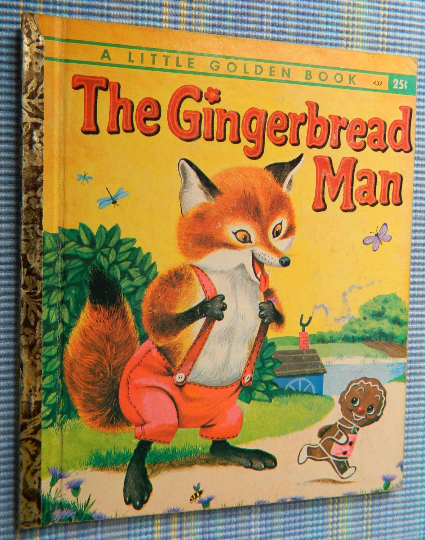 Vintage Gingerbread Man Little Golden Book Old Children S