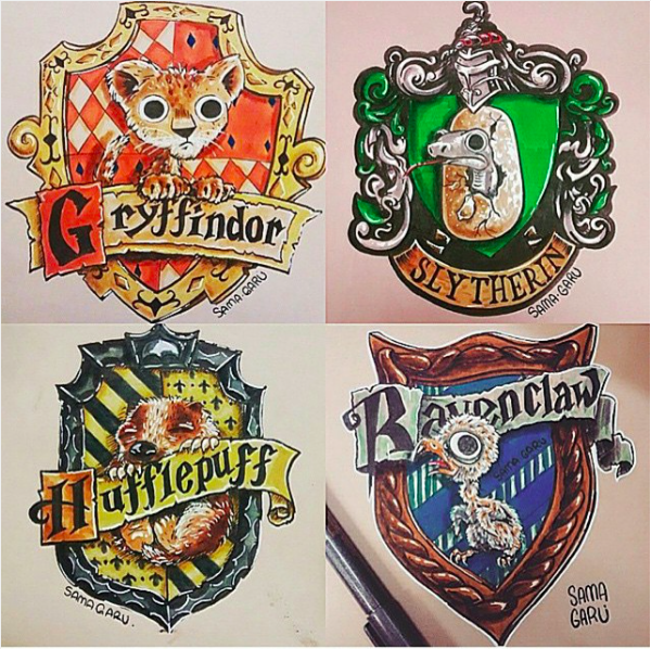 Baby House Crests By Sama.Garu (original Post Not Found). Hogwarts ...