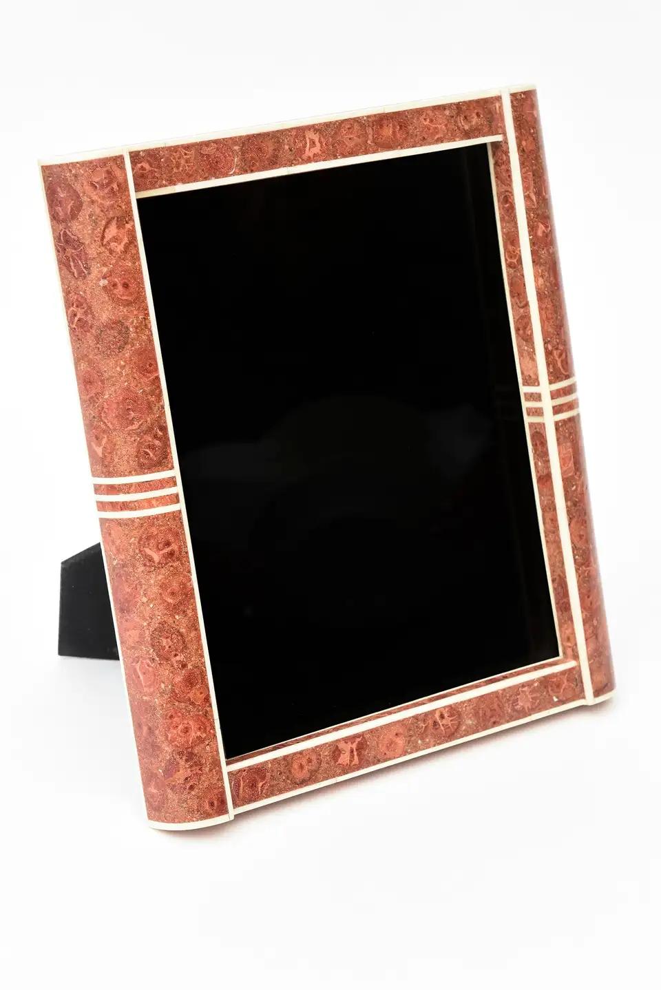 R Y Augousti Style Stone Picture Frame Vintage In 2020 Stone Pictures Picture Frames Frame