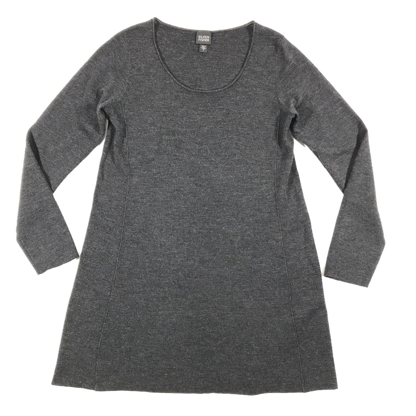 Cool amazing eileen fisher women wool sweater tunic dress s small