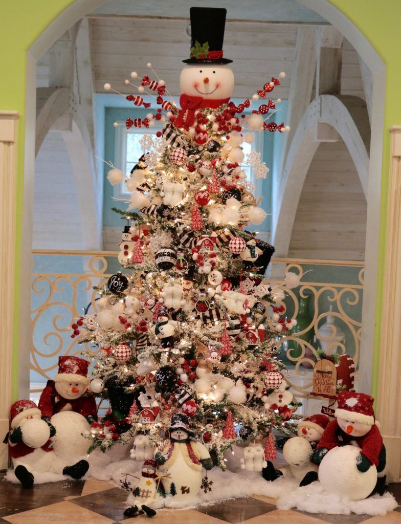 How To Decorate Your Christmas Tree Video Tutorial Turtle Creek Lane Snowman Christmas Decorations Holiday Tree Decorations Christmas Tree Inspiration