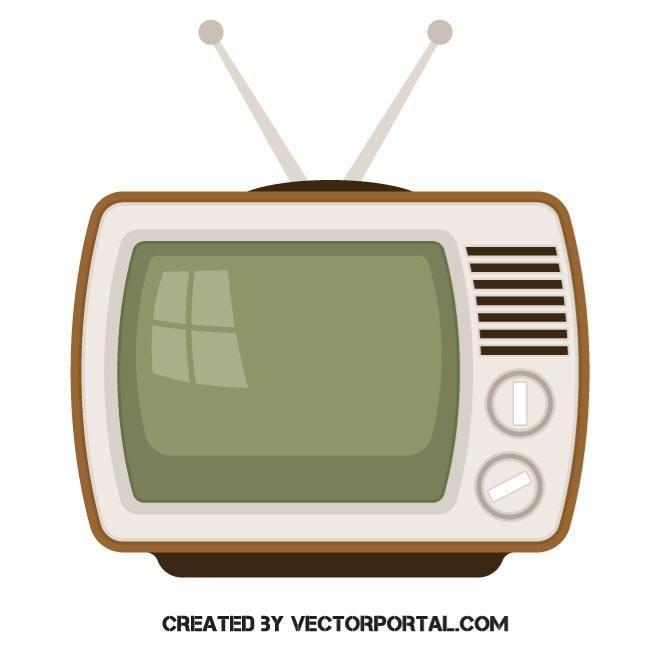 Old Tv Set Vector Image Old Tv Art Images Free Vector Illustration