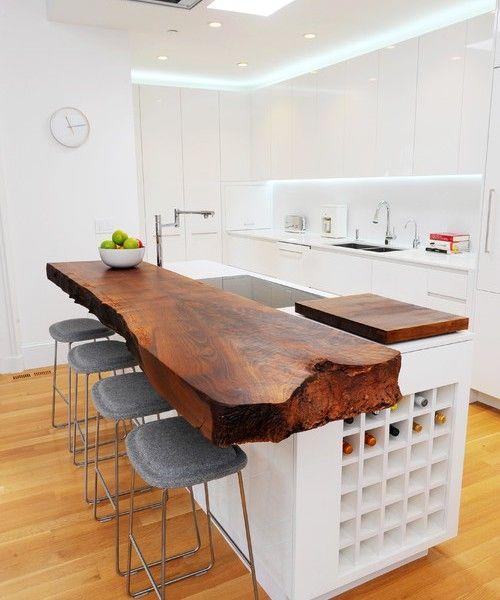 Artefakt innerhalb dieser minimalistische Küche Hell\u0027s Kitchen - küche mit bar