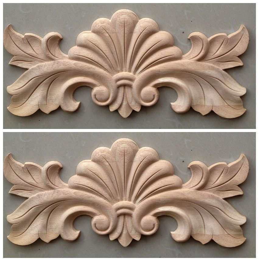 Dongyang wood carving fashion corners applique gate flower