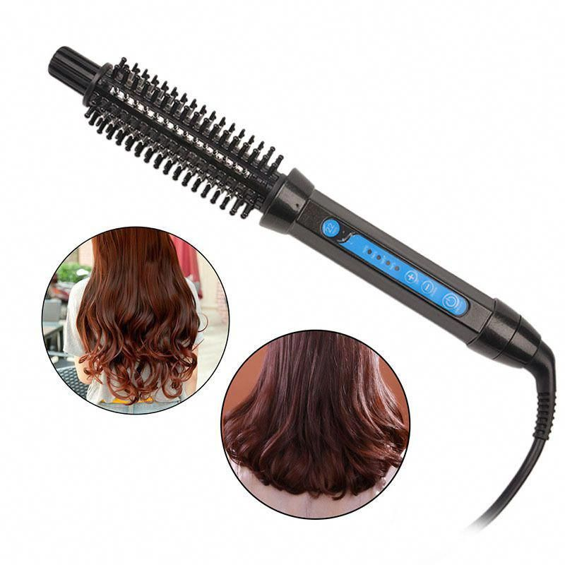 Tourmaline Ceramic Electric Hair Curling Iron Styling Hair Straightener Brush Unbranded Healthy Hair Straightening Iron Hair Curlers Electric Hair Curlers