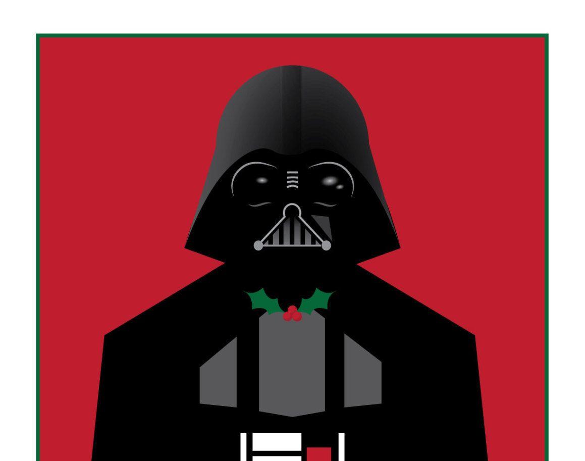 6-Pack Darth Vader Star Wars Christmas Card Nerdy Holiday Cards ...