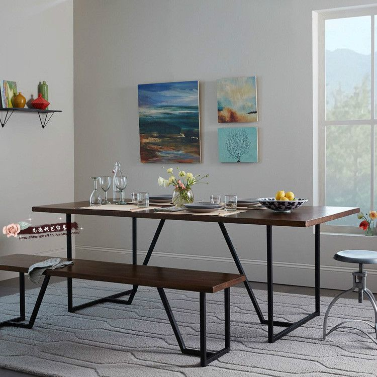 Americana loft estilo retro comedor combinación de muebles de ...