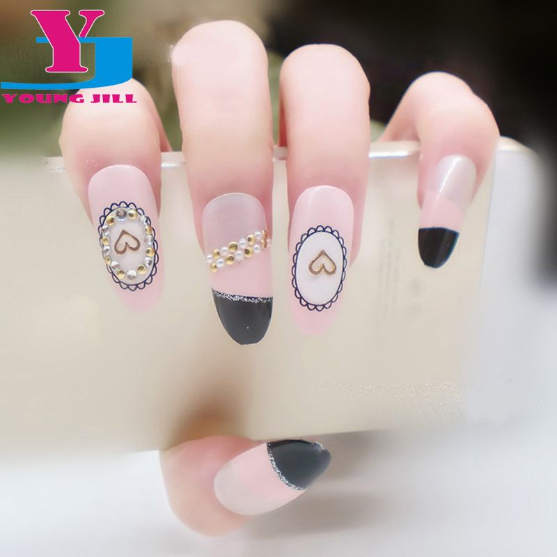 2016 New Decorated False Nail Cute Fashion 3D Acrylic Glue Fake ...