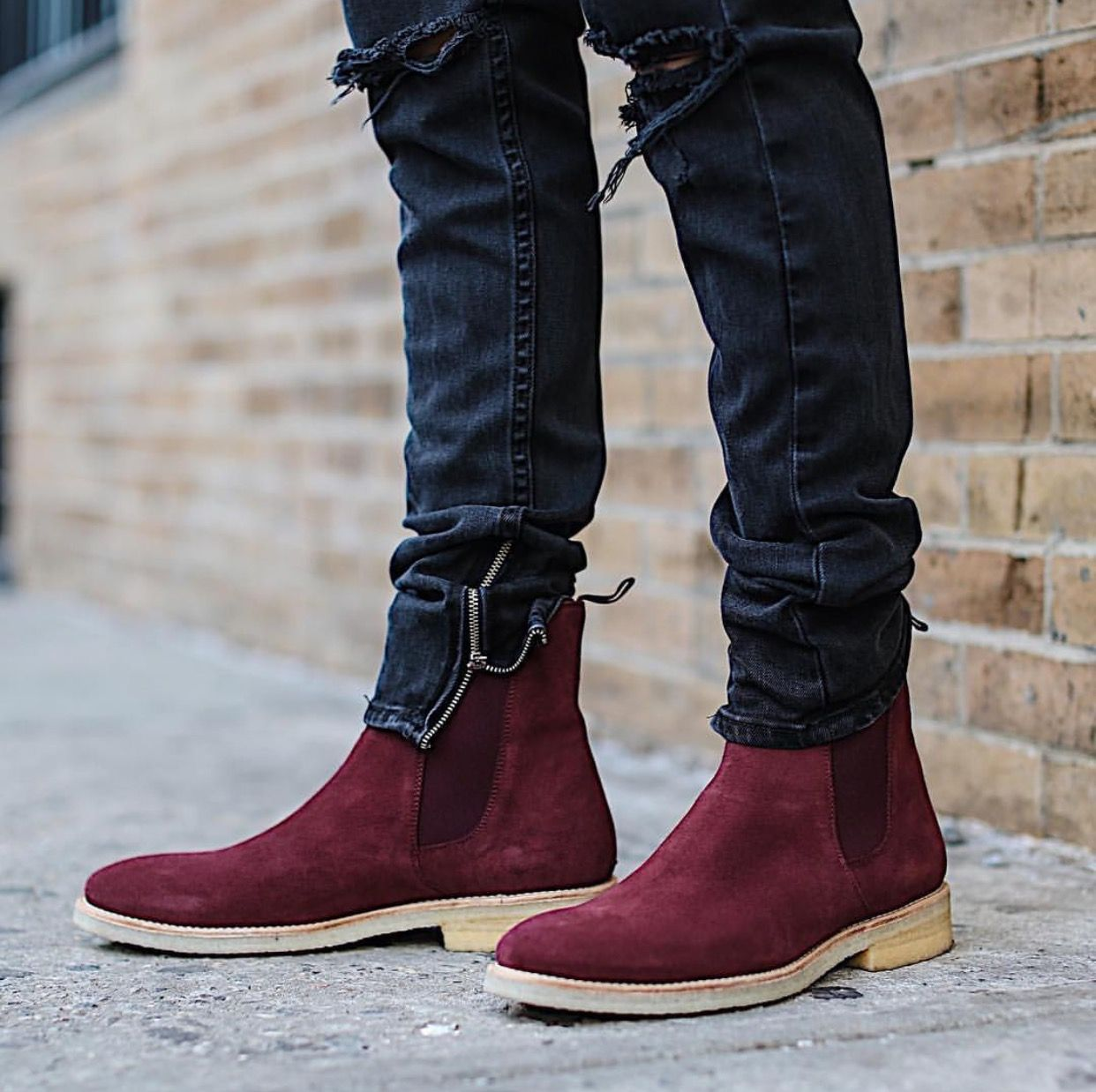The wine crepe chelsea boots stitches pinterest grown man and